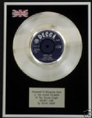 "KATHY KIRBY  - 7"" Platinum Disc - SECRET LOVE"